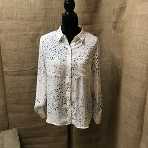 NWT Apt 9 Chiffon Button Down